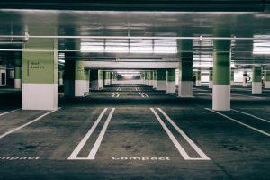 Paved multi story parking lot in New Kent, Virginia - New Kent Asphalt Paving